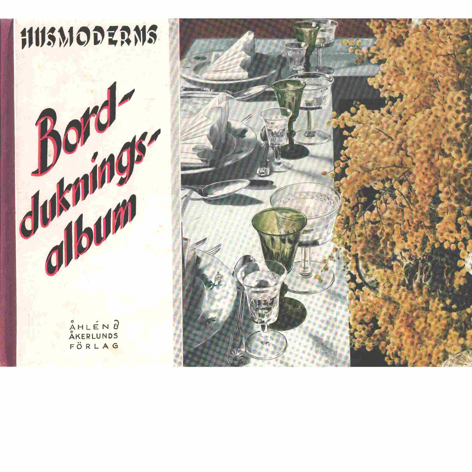 Husmoderns Bord-duknings album - Red.