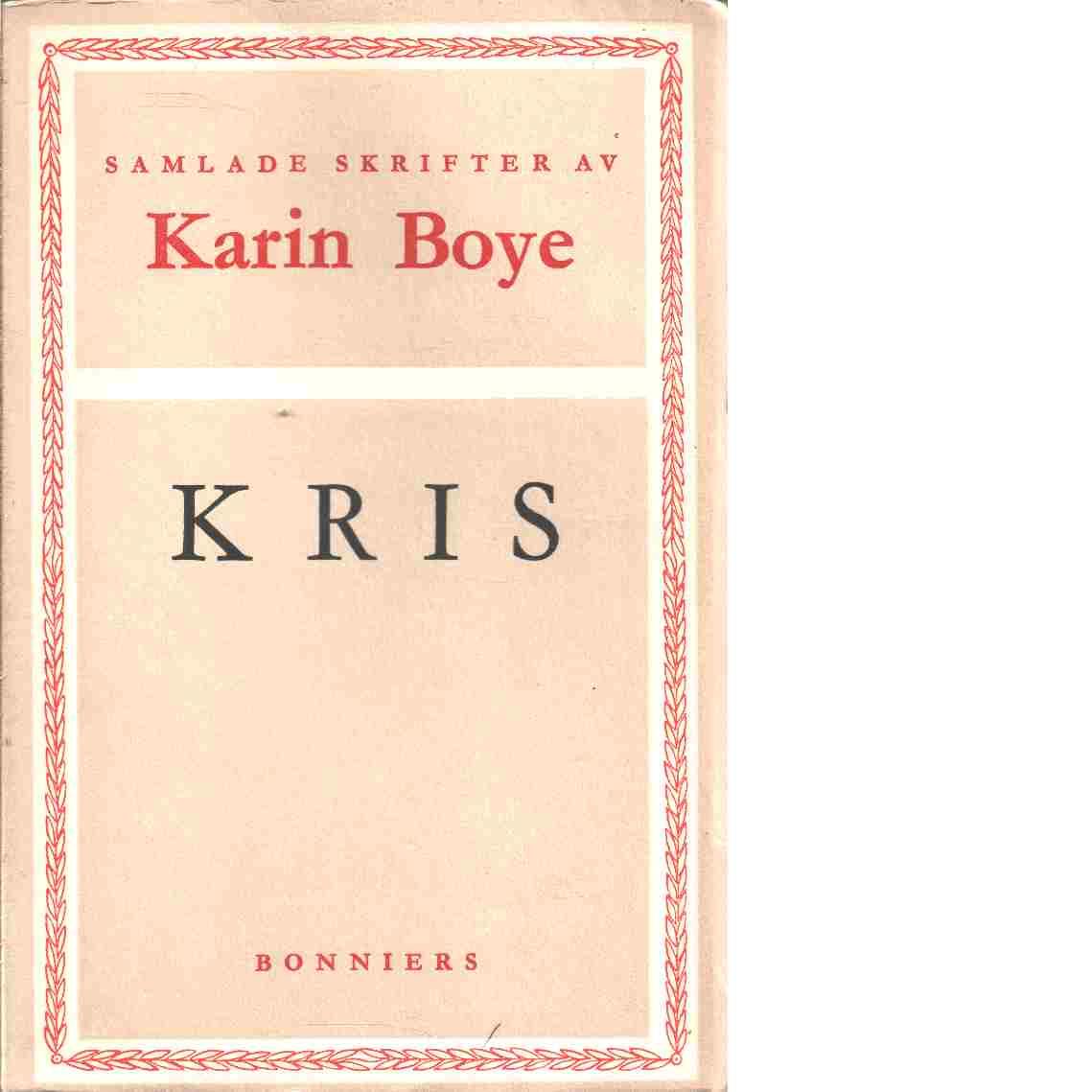 Kris - Boye, Karin