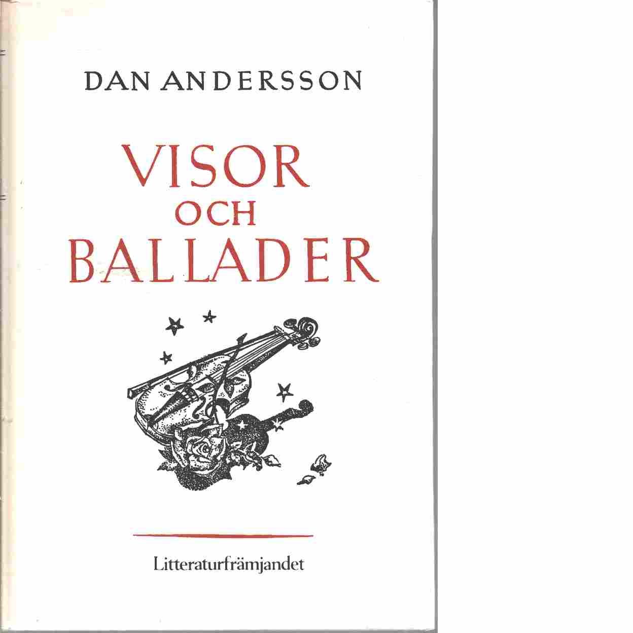 Visor och ballader / Dan Andersson ; med teckningar av Einar Forseth - Andersson, Dan