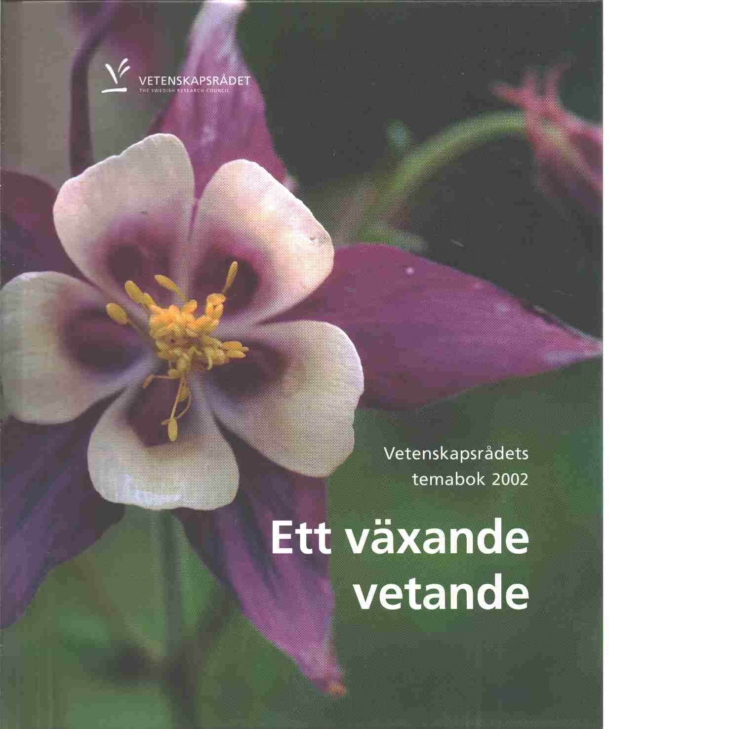 Ett växande vetande : Vetenskapsrådets temabok 2002 - Red. Vetenskapsrådet