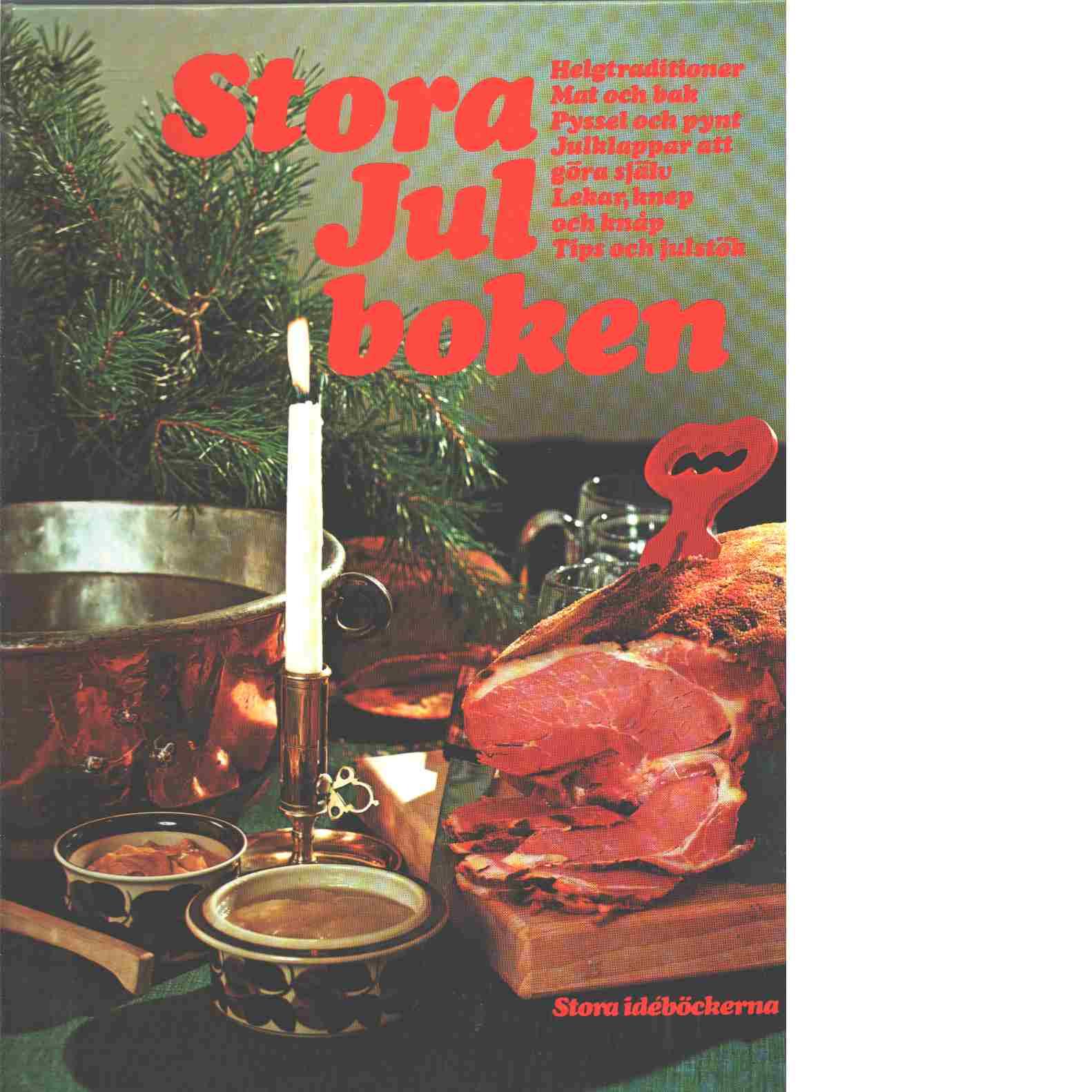 Stora julboken - Vahlberg, Anita