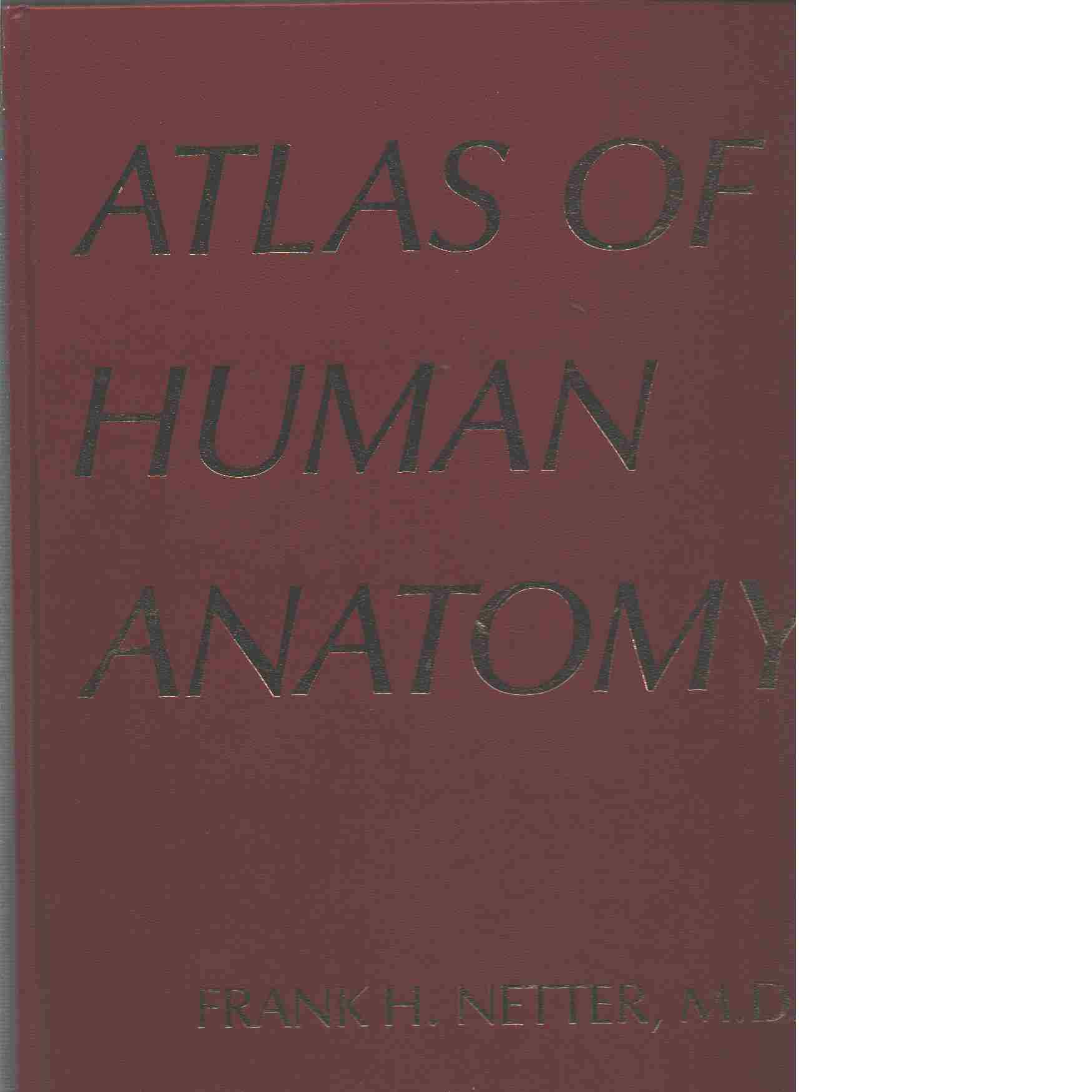 Atlas of human anatomy - Netter, Frank H.,