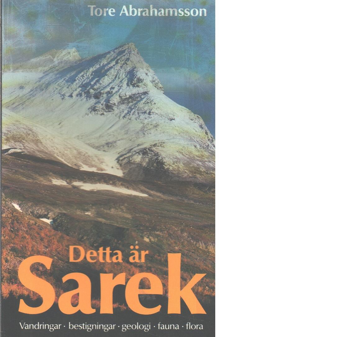 Detta är Sarek - Abrahamsson Tore