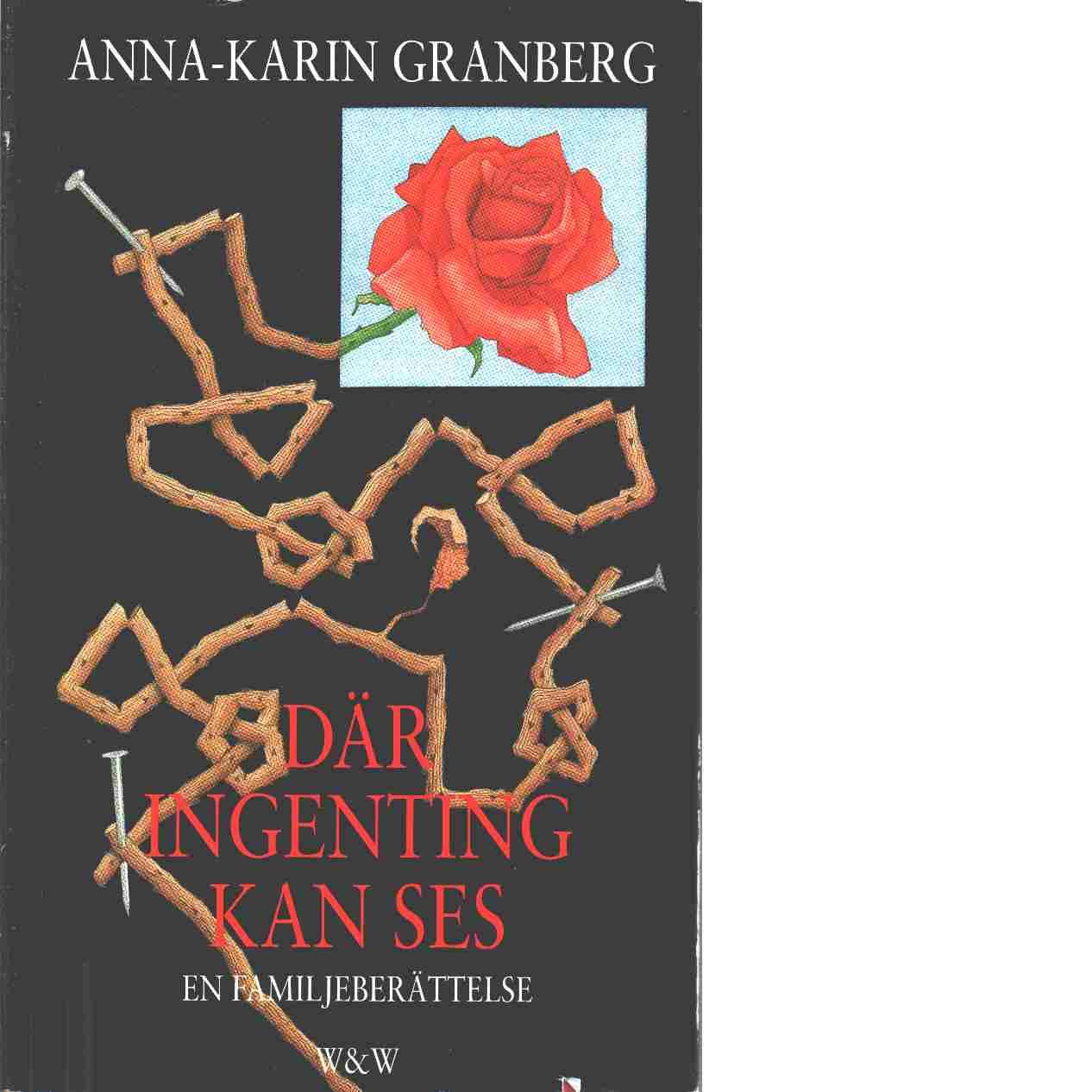 Där ingenting kan ses : en familjeberättelse - Granberg, Anna-Karin
