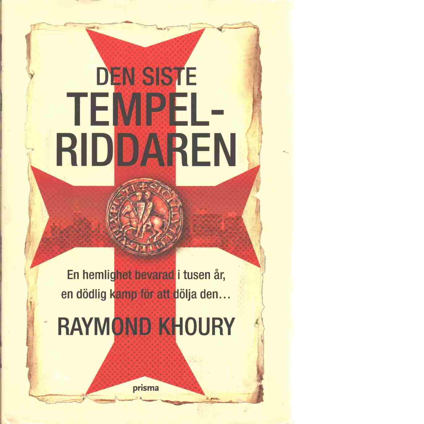 Den siste tempelriddaren - Khoury, Raymond