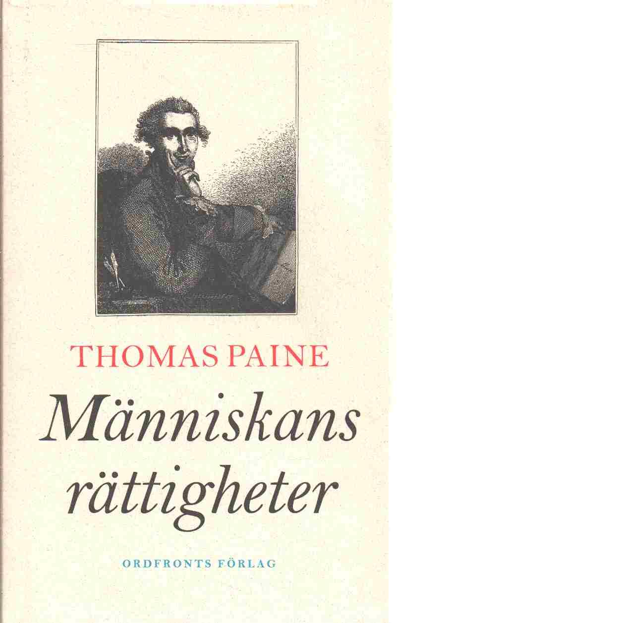 Människans rättigheter - Paine, Thomas