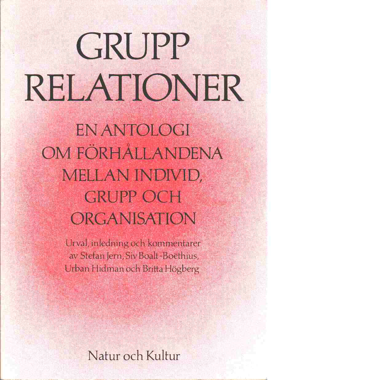 Grupprelationer - Red. Klein, Melanie