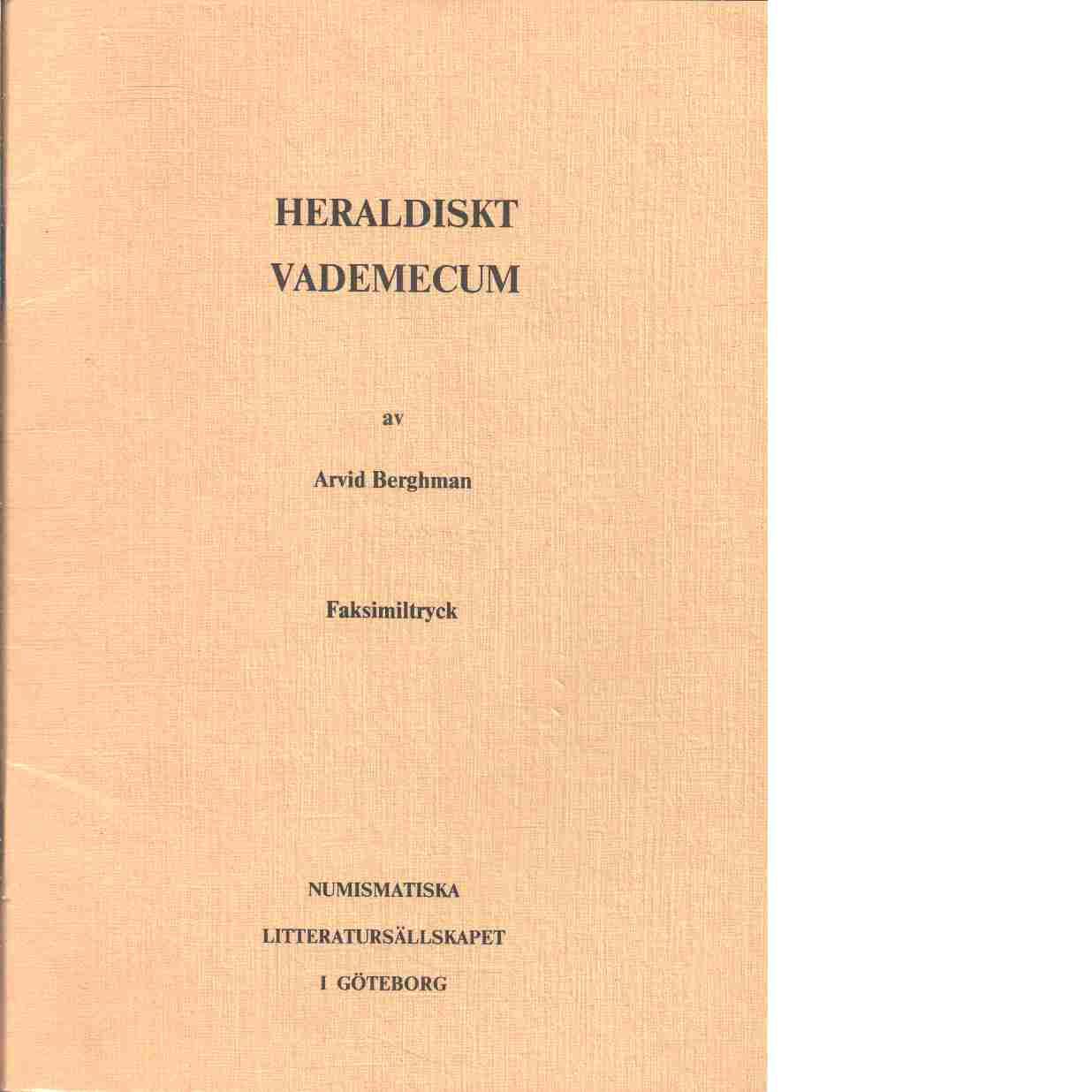 Heraldiskt vademecum - Berghman, Arvid