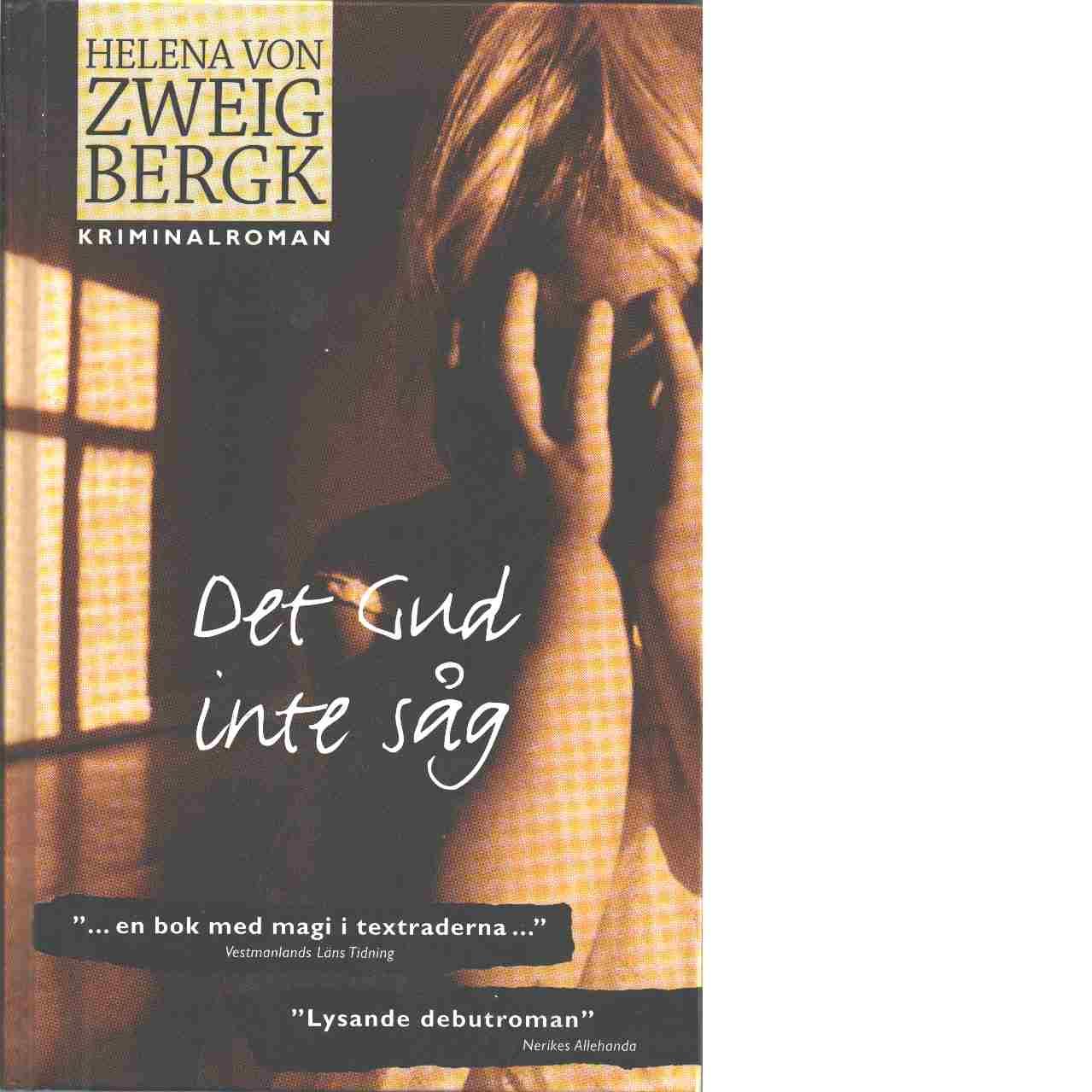 Det Gud inte såg - Zweigbergk,von  Helena