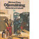 Oljemålning : material och teknik - Pope, Michael