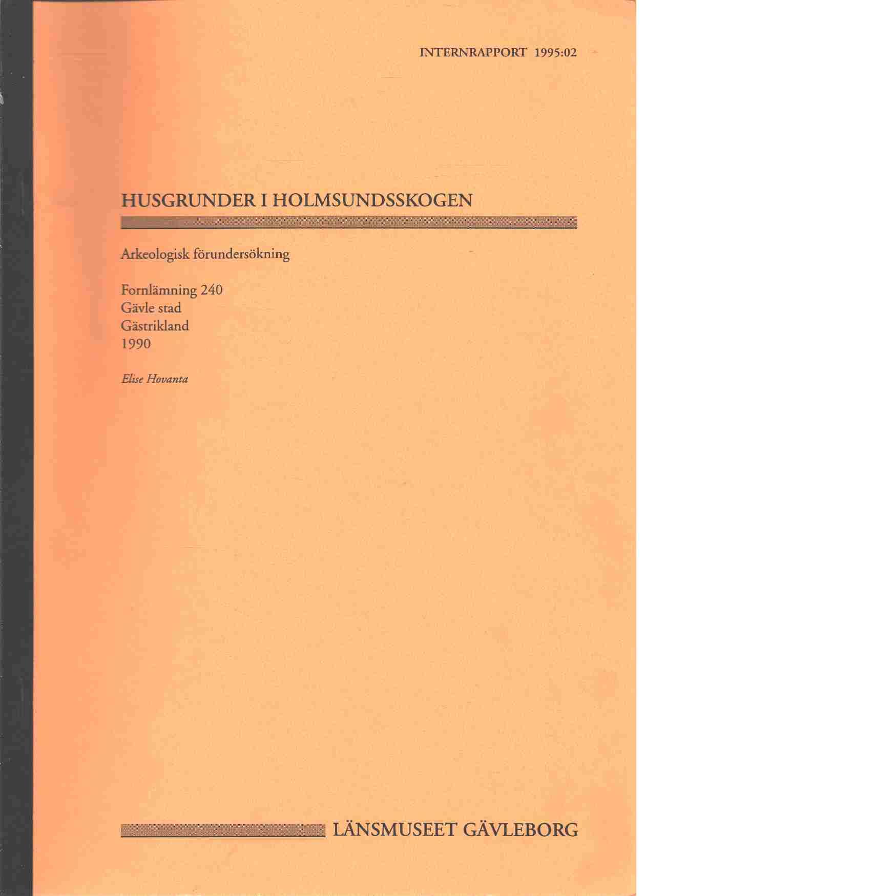 Husgrunder i Holmsundsskogen - Elise Hovanta