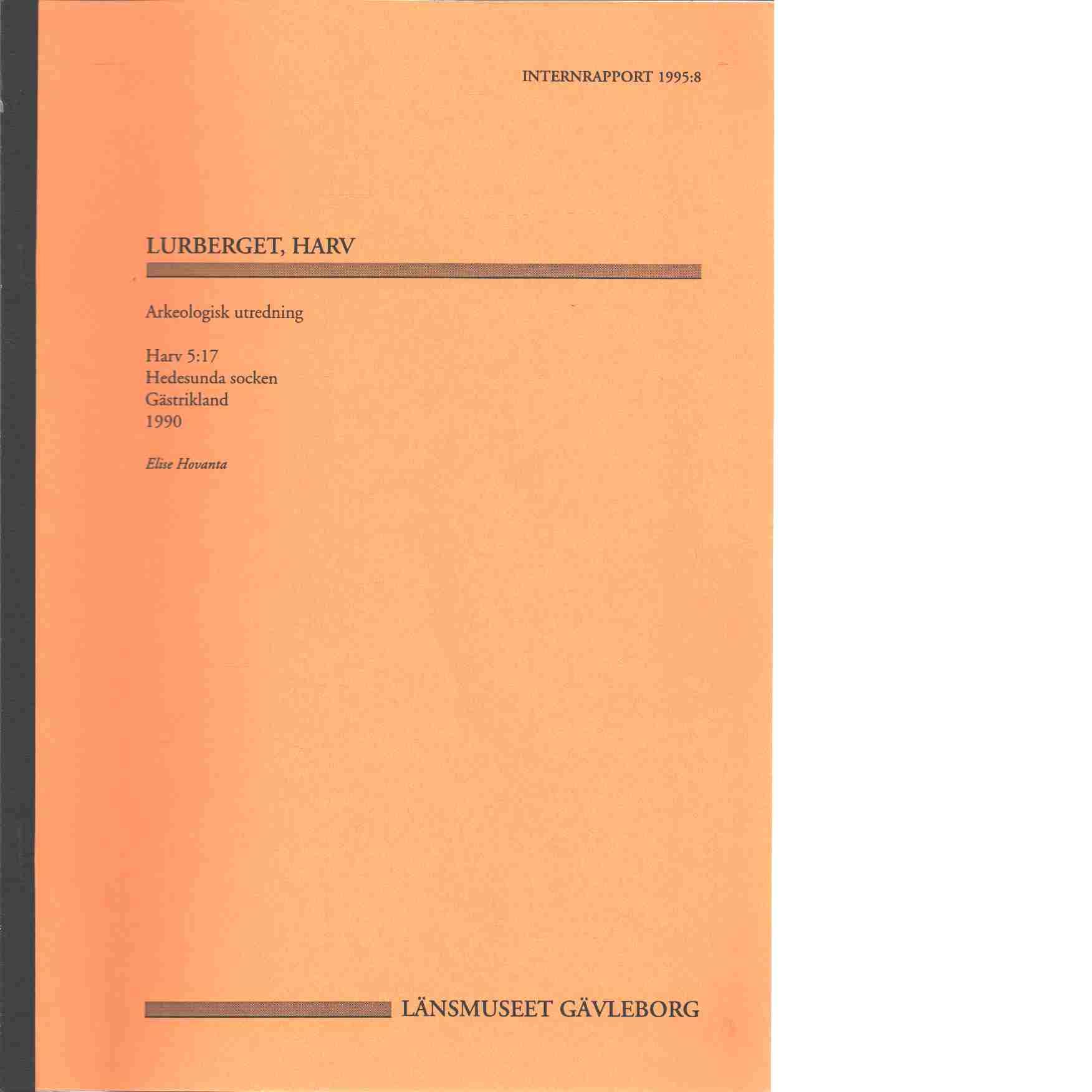 Lurberget, Harv - Elise Hovanta