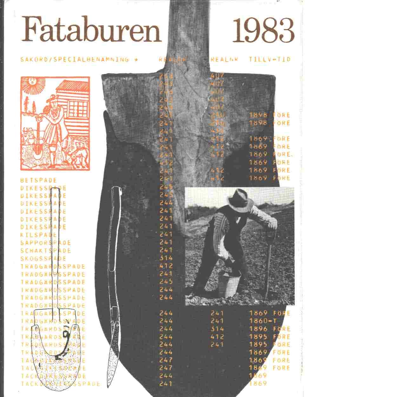 Fataburen : Nordiska museets och Skansens årsbok. 1983 - Red.