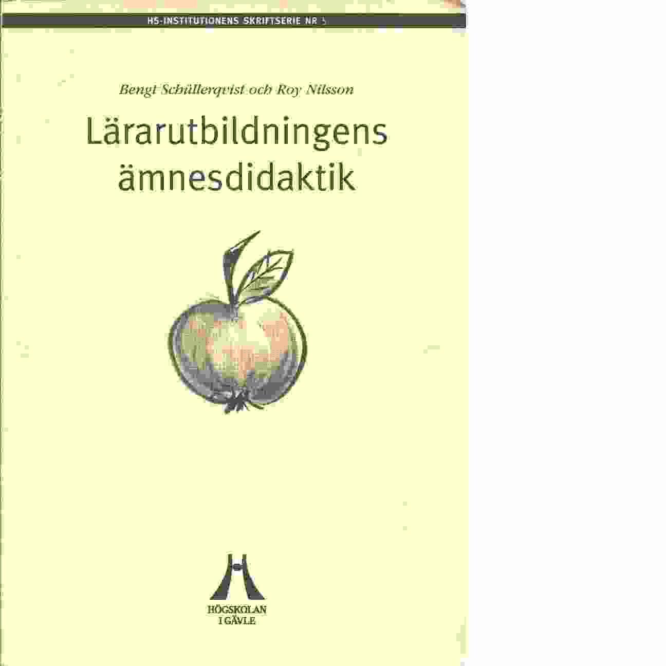Lärarutbildningens ämnesdidaktik - Red.