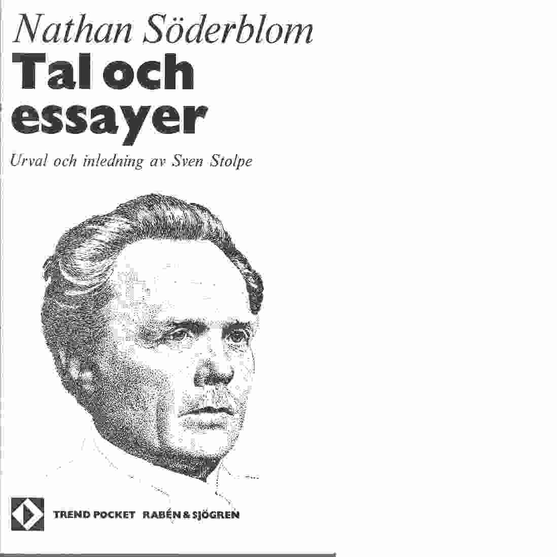 Tal och essayer - Söderblom, Nathan