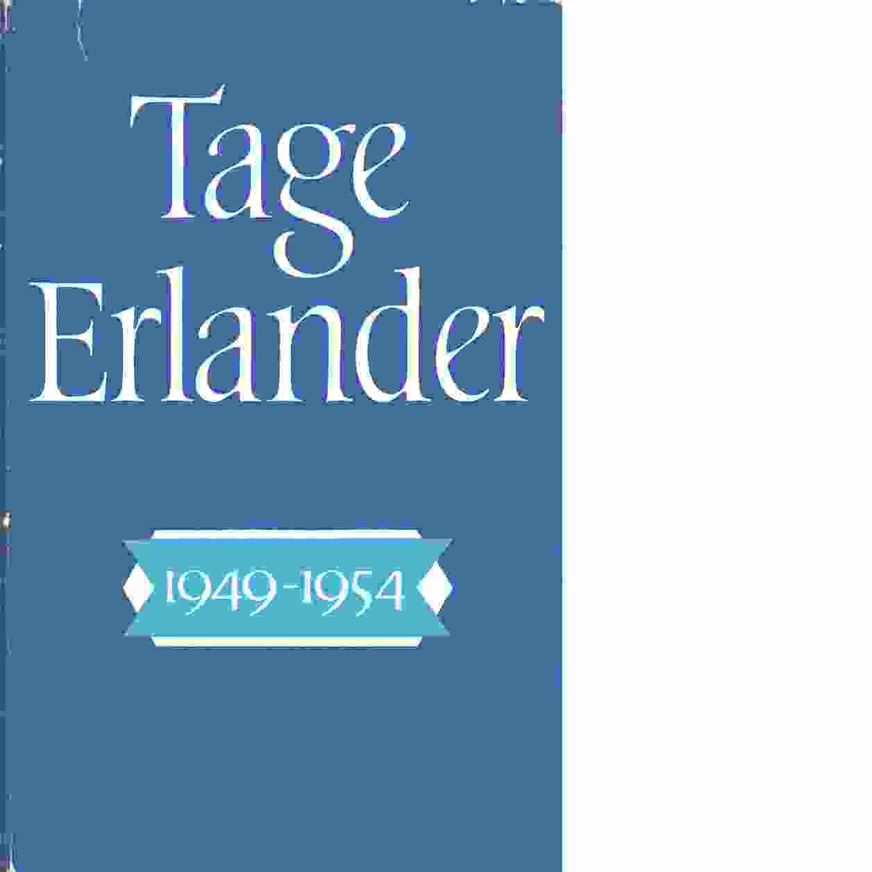 Tage Erlander. 1949-1954 - Erlander, Tage