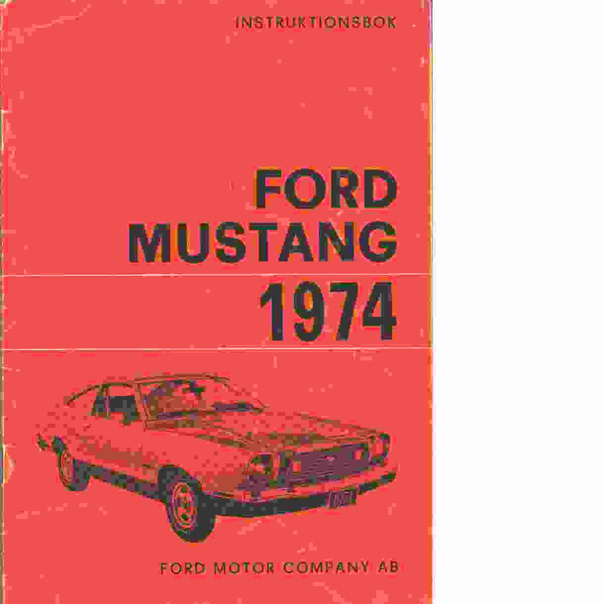 Ford Mustang 1974 - Red.