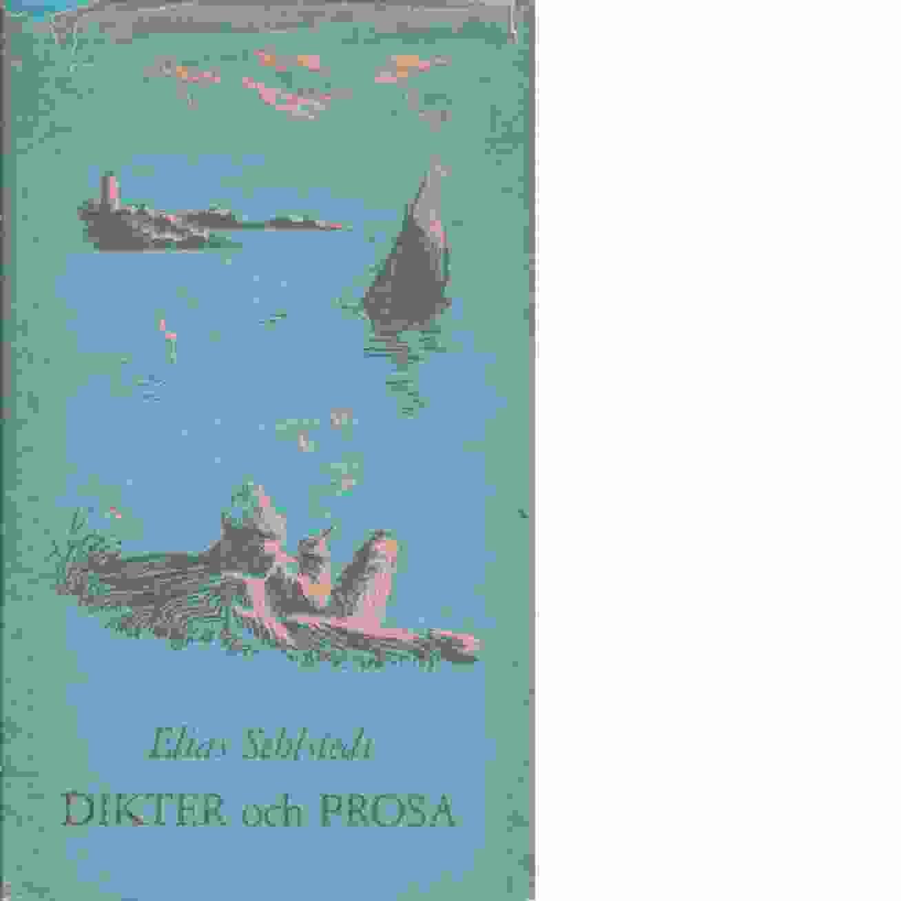 Dikter och prosa - Sehlstedt, Elias