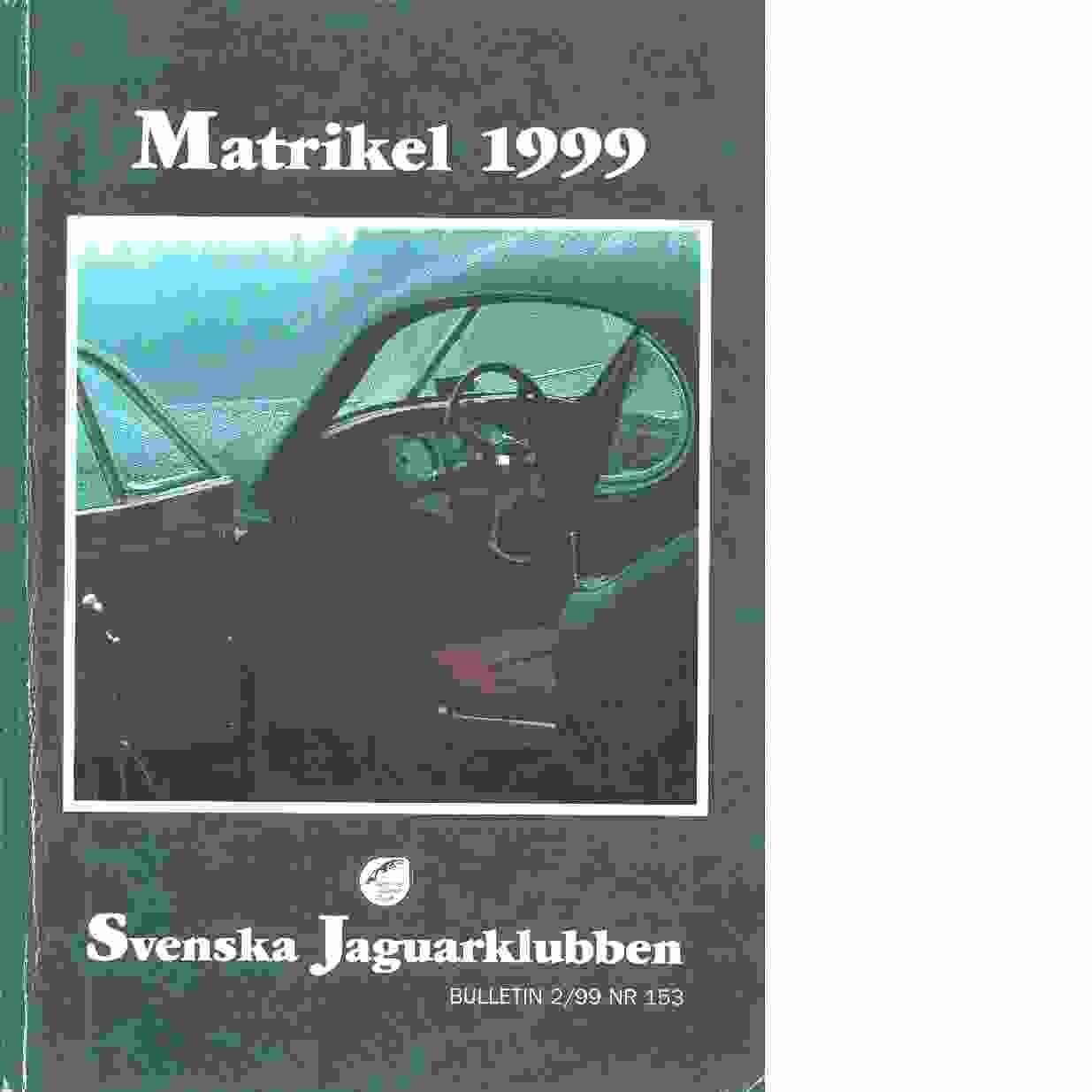Svenska Jaguarklubben : Matrikel 1999 - Red.