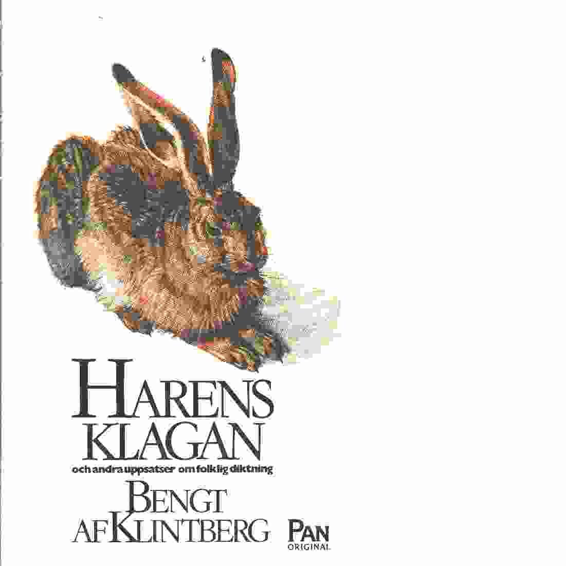 Harens klagan och andra uppsatser om folklig diktning - af Klintberg, Bengt