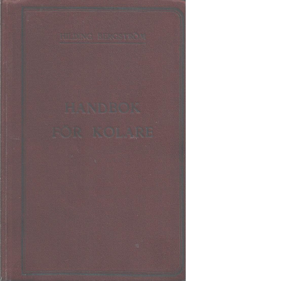 Handbok för kolare - Bergström, Hilding