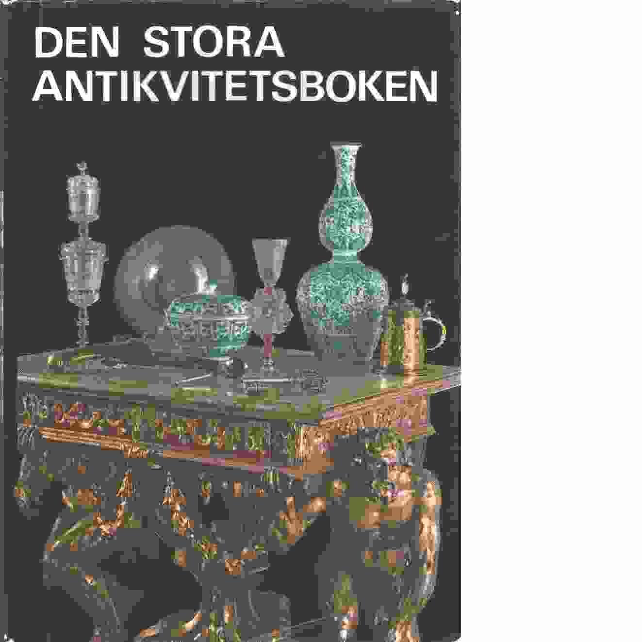 Den stora antikvitetsboken - Red.