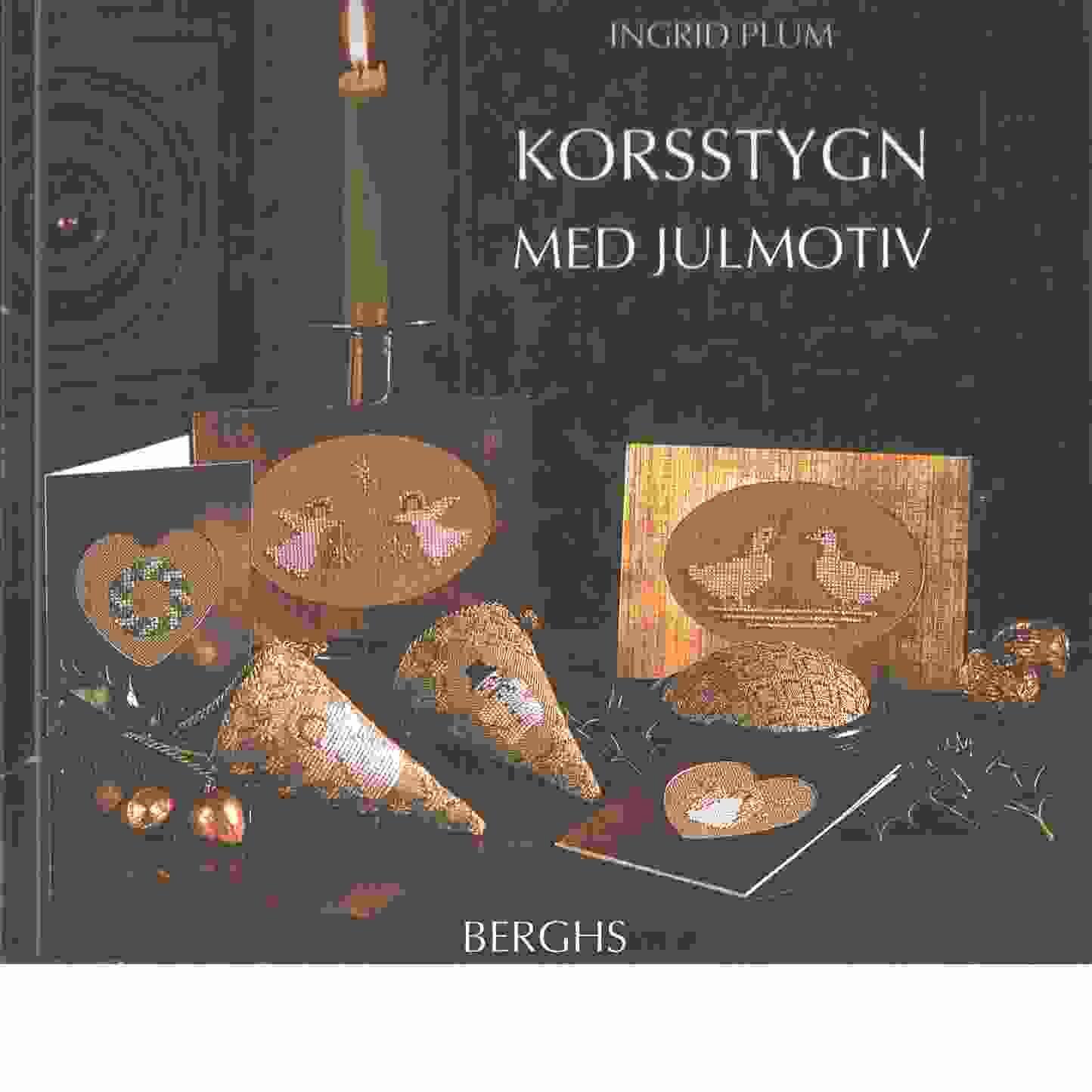 Korsstygn med julmotiv - Plum, Ingrid