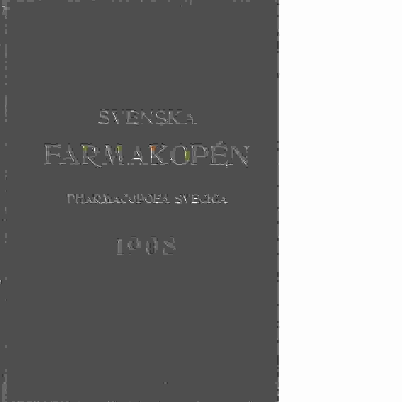 Svenska farmakopén 1908 - Red.
