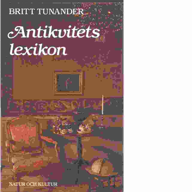 Antikvitetslexikon - Tunander, Britt