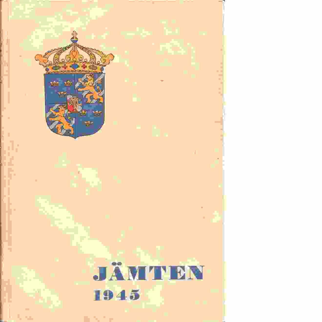 Jämten 1945 - Red. Björkquist, Lennart