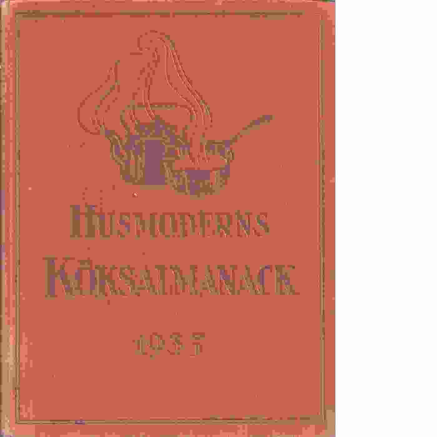 Husmoderns köksalmanack 1935 - Red.