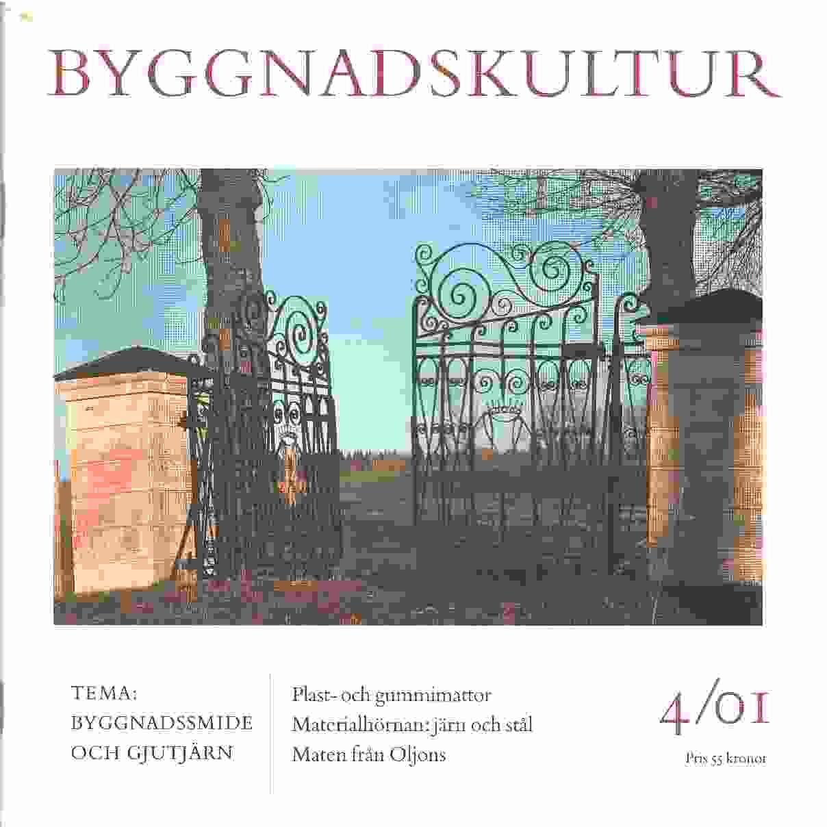 Byggnadskultur 4  : meddelande från Svenska föreningen för byggnadsvård - Red.
