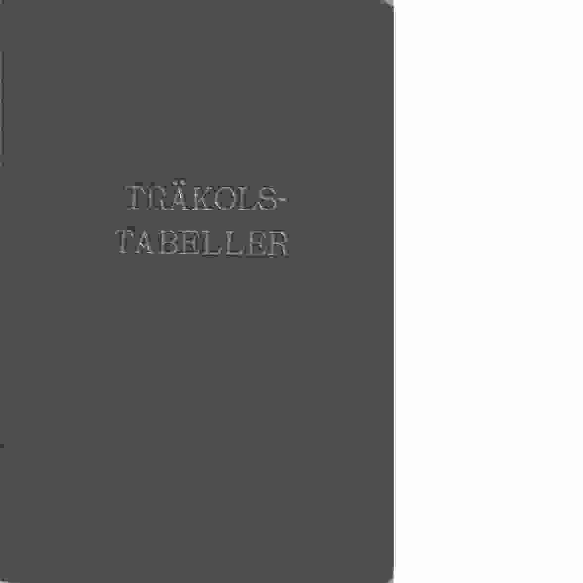 Tabeller för volymberäkning av träkol i järnvägsvagn. - Djurberg, Gösta