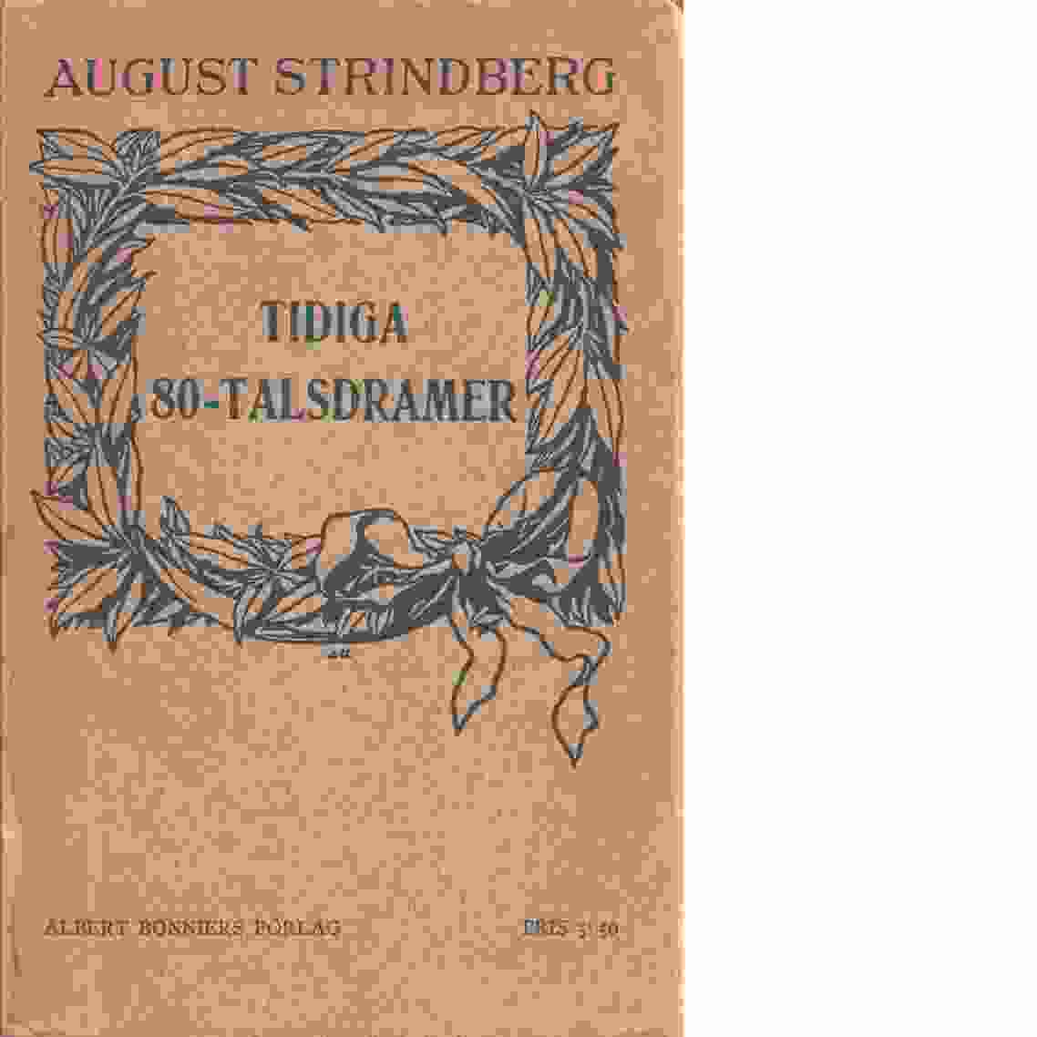 Samlade skrifter. D. 9, Tidiga 80-talsdramer - Strindberg, August