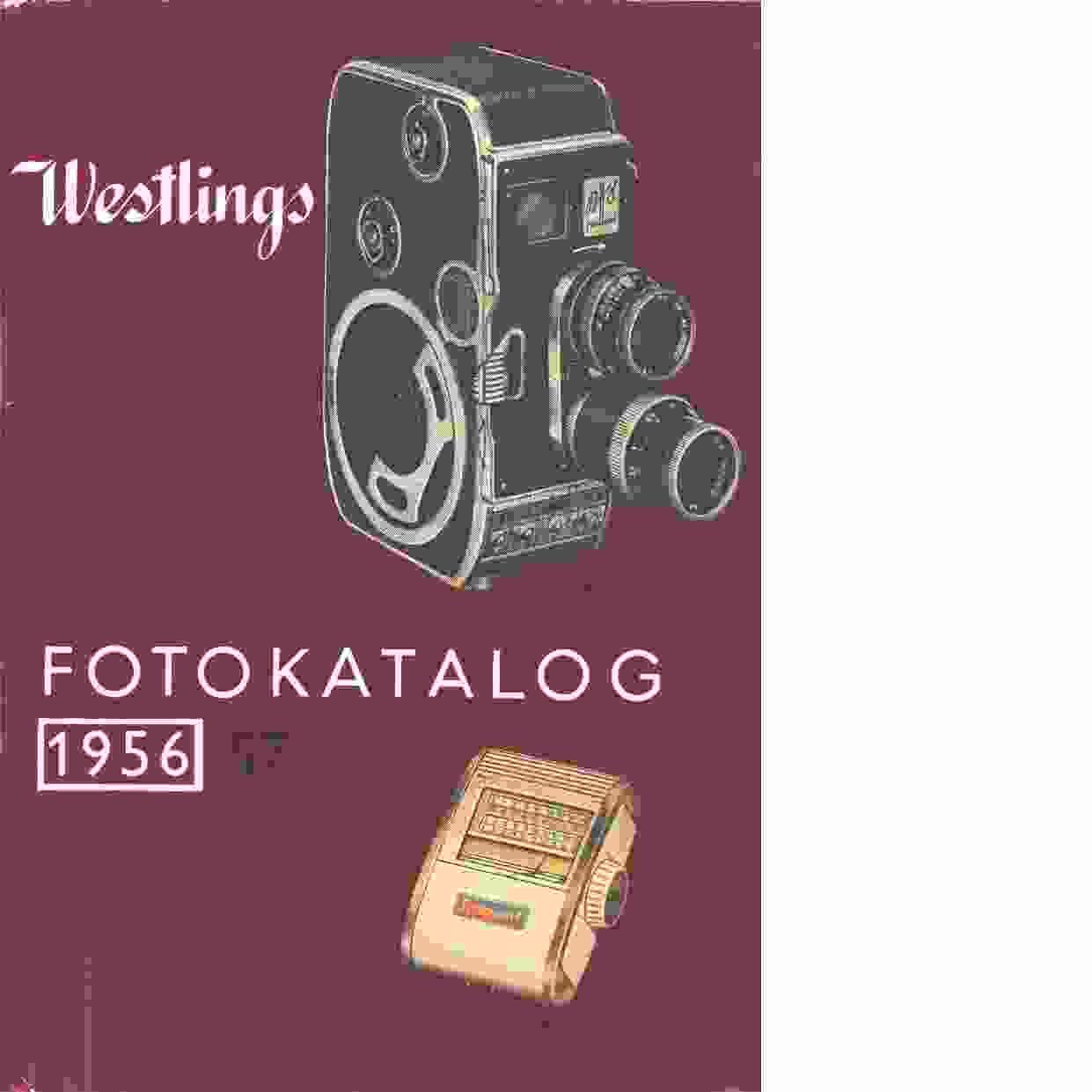 Westlings fotokatalog 1956-57 - Westling, Albin