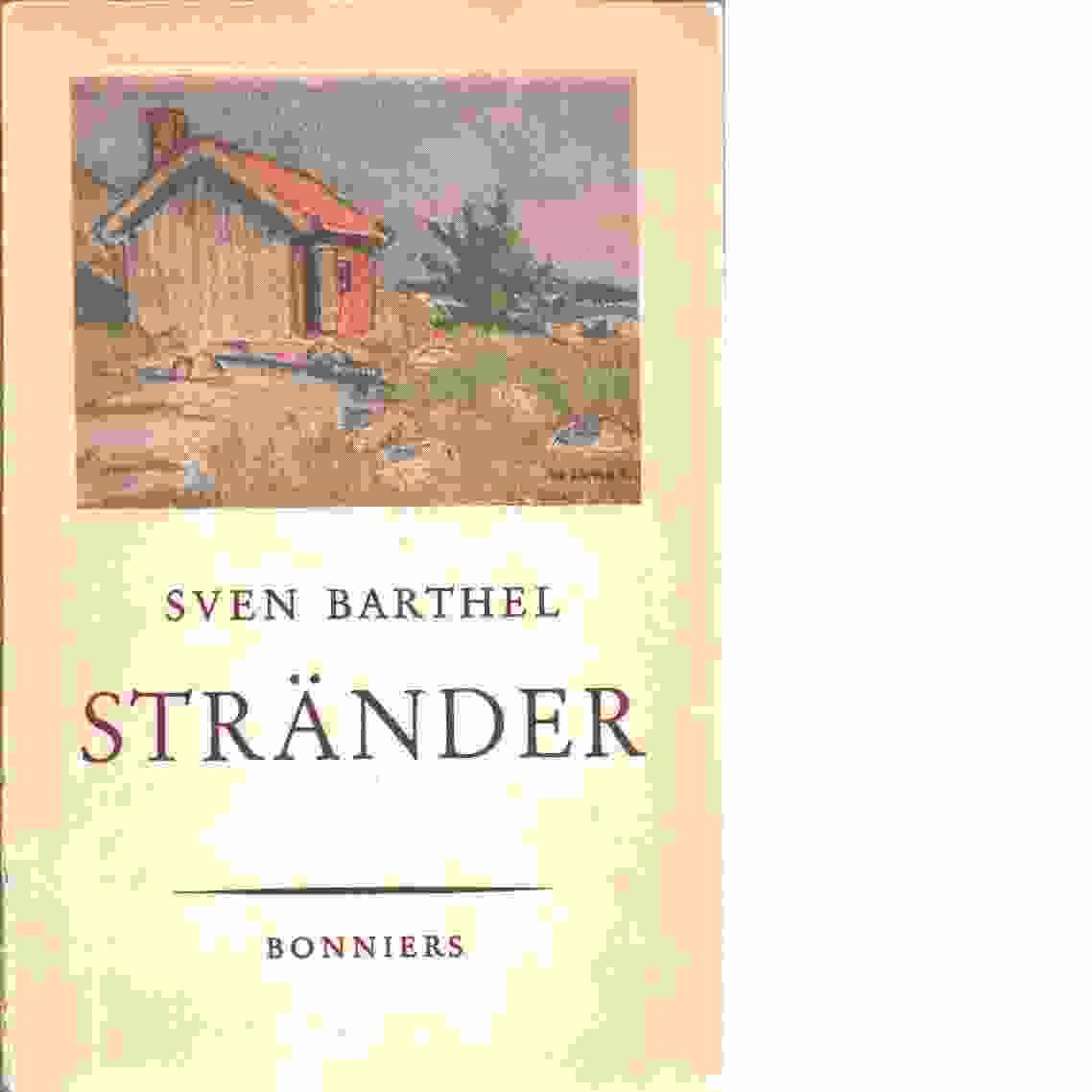 Stränder - Barthel, Sven