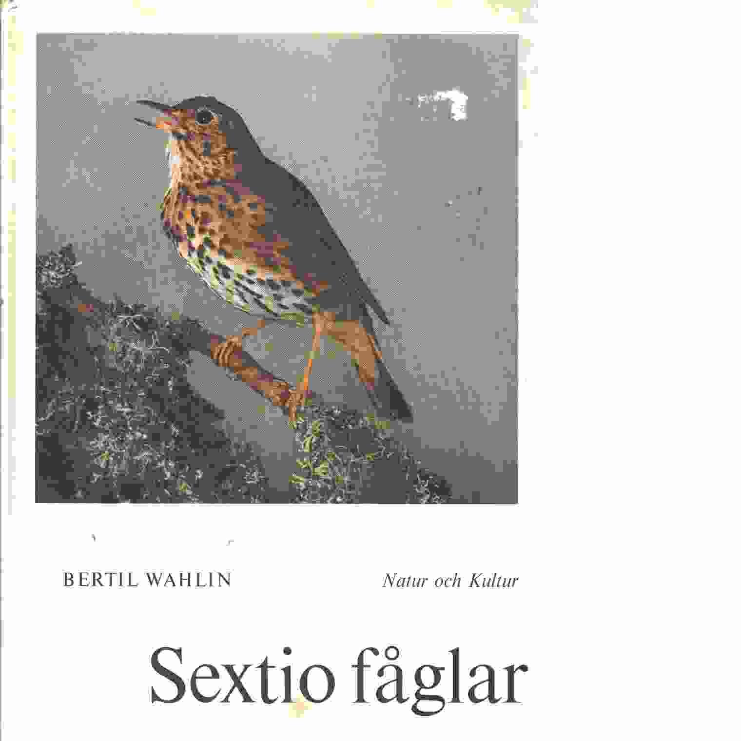 Sextio fåglar.  - Wahlin, Bertil