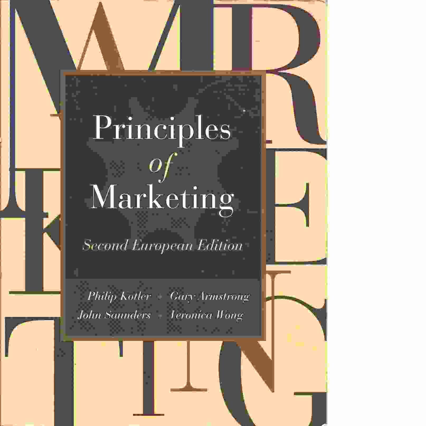 Principles of marketing : European edition - Kotler, Philip