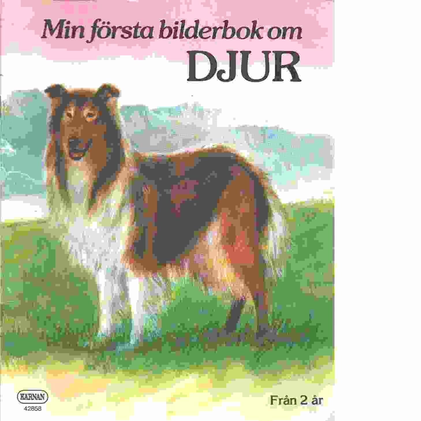 Min första bilderbok om djur.  - Red.
