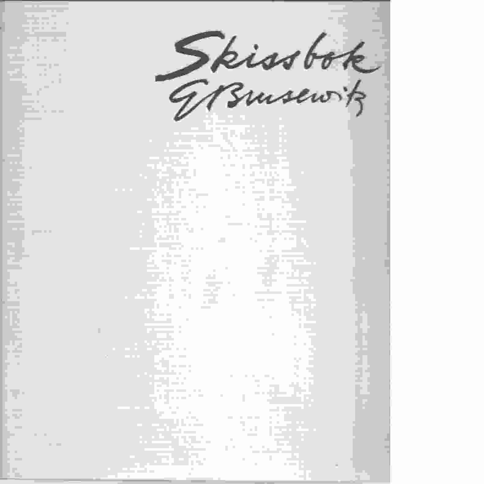 Skissbok : anteckningar från svensk natur - Brusewitz, Gunnar