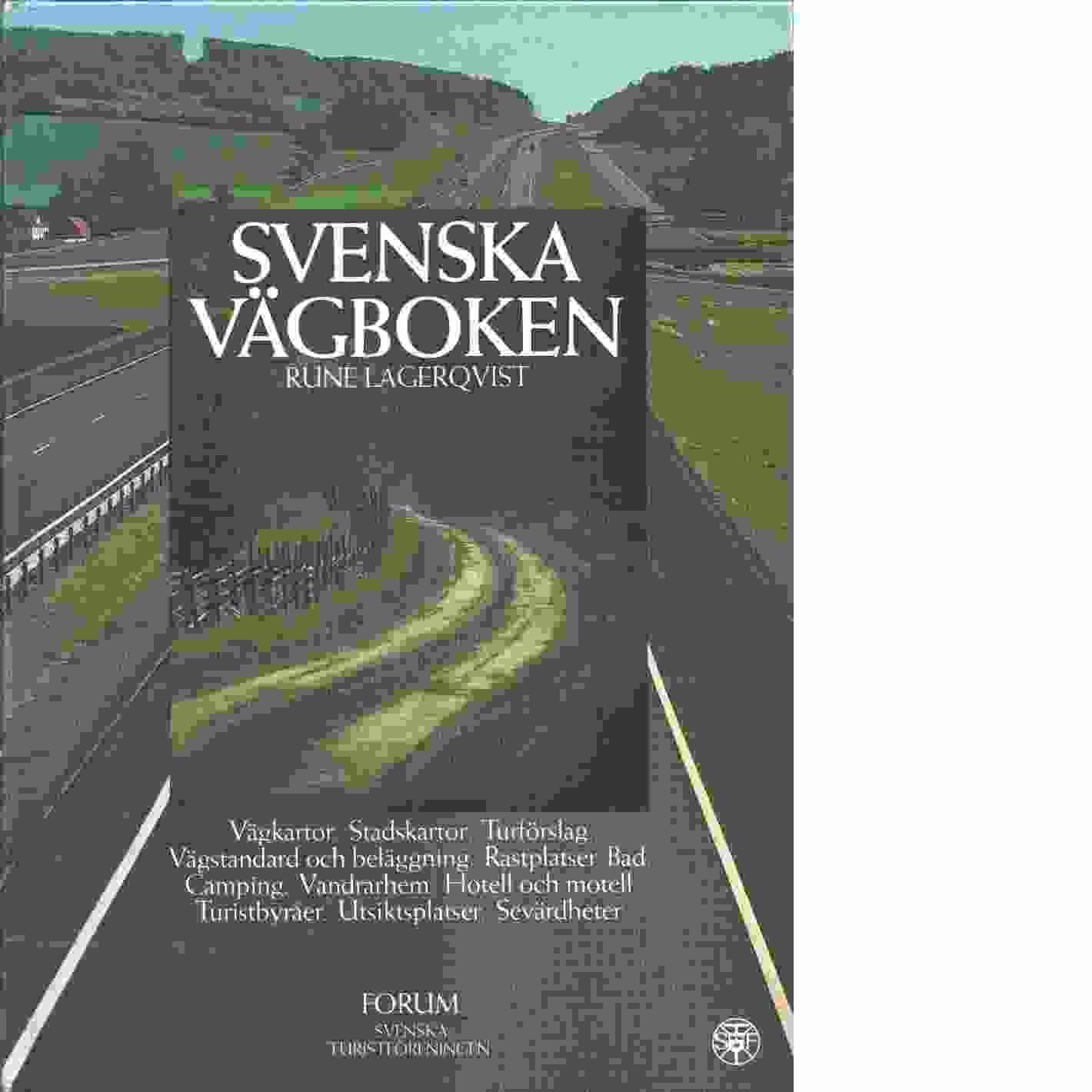 Svenska vägboken  -  Lagerqvist, Rune