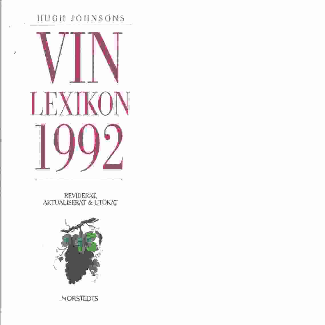 Hugh Johnsons vinlexikon - Johnson, Hugh