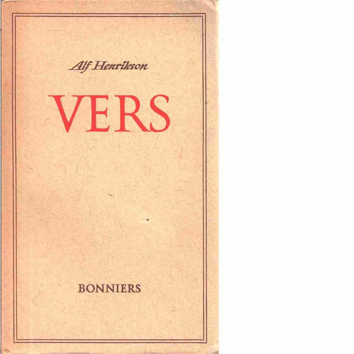 Vers  - Henrikson, Alf