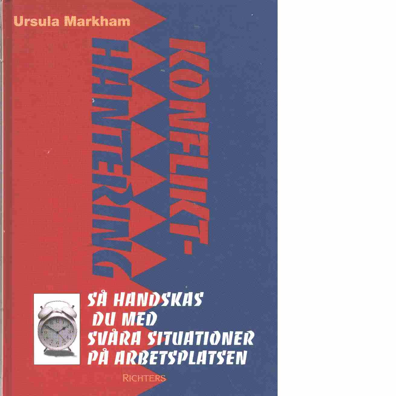 Konflikthantering  - Markham, Ursula