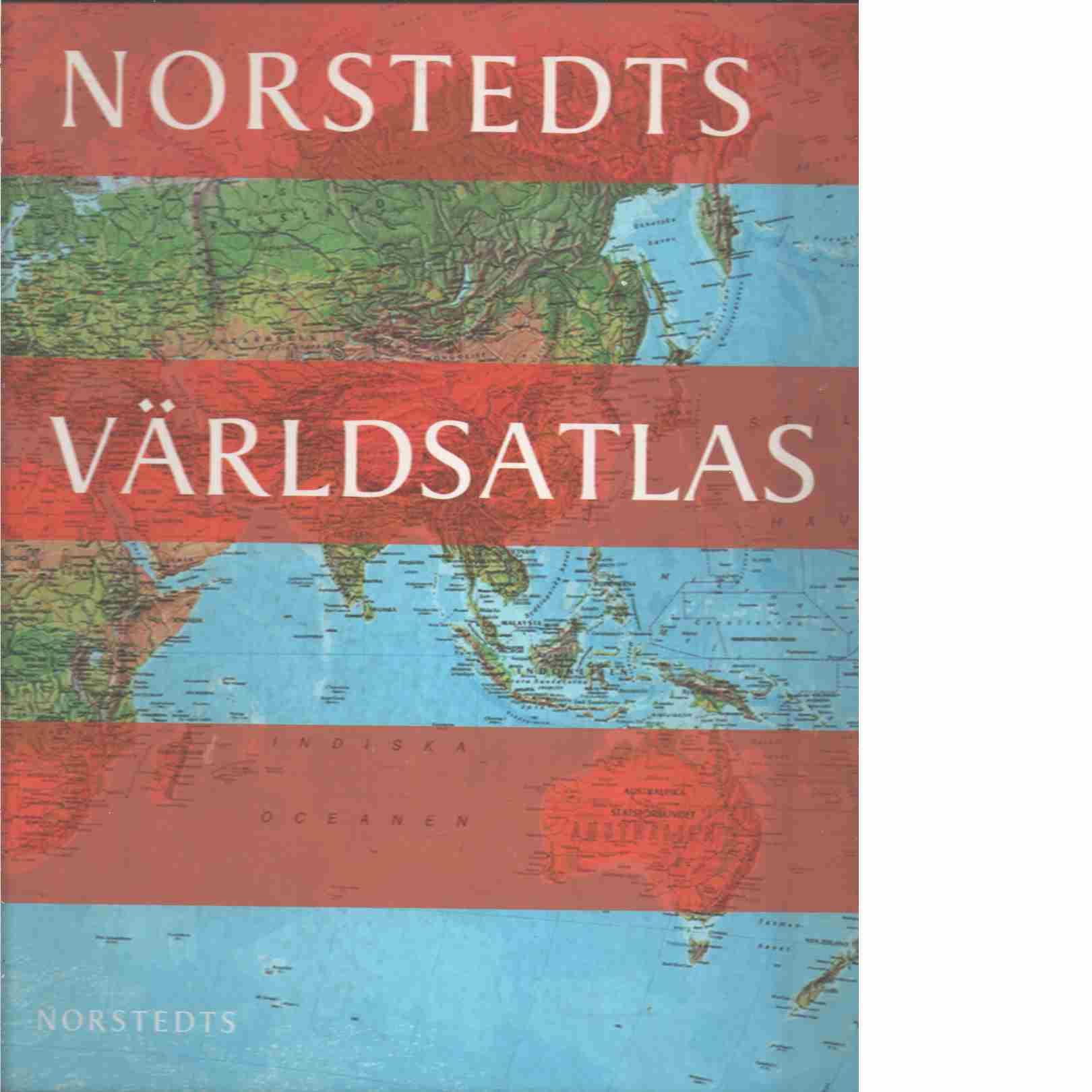 Norstedts världsatlas [Kartografiskt material] - Red.