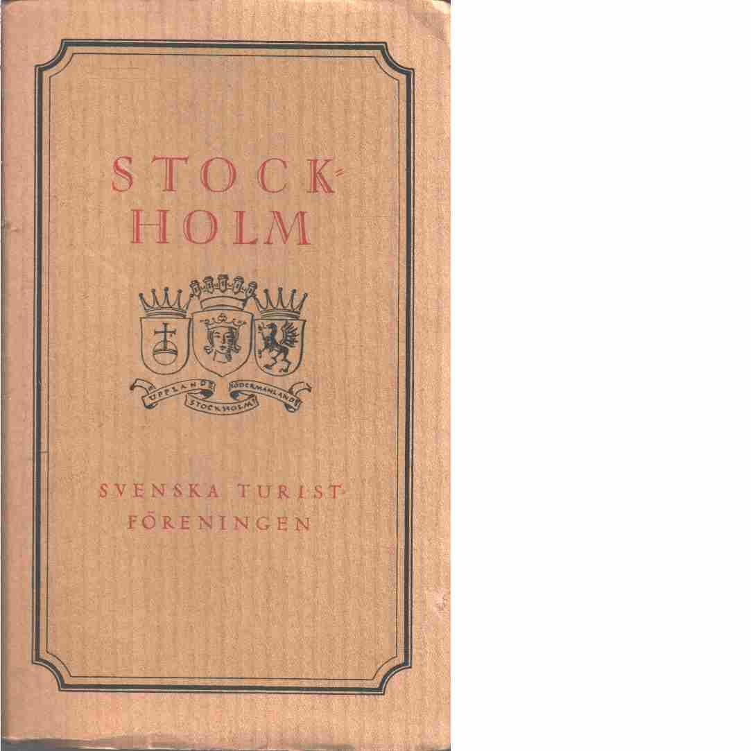En bok om Stockholm - Red.