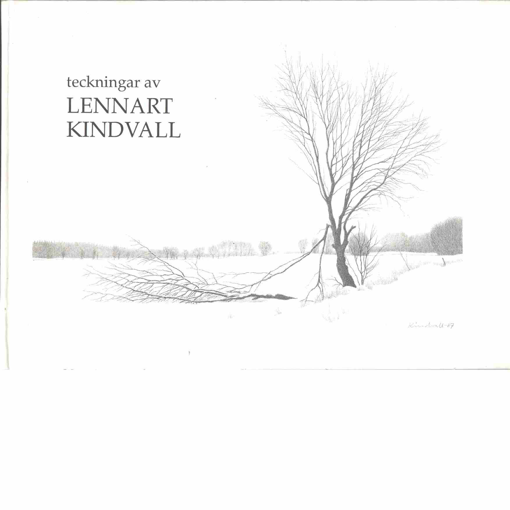 Lennart Kindvall : teckningar - Kindvall, Lennart