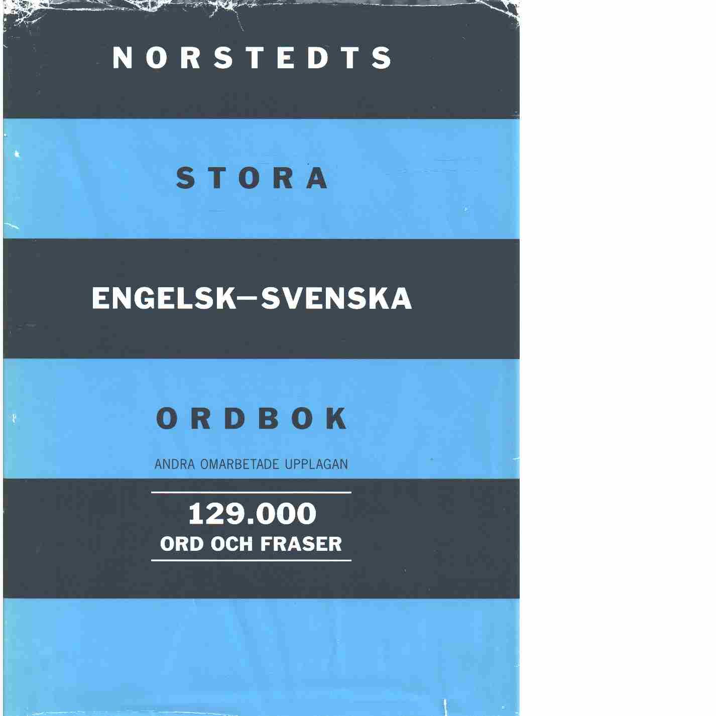 Norstedts stora engelsk-svenska ordbok - Red. Petti, Vincent