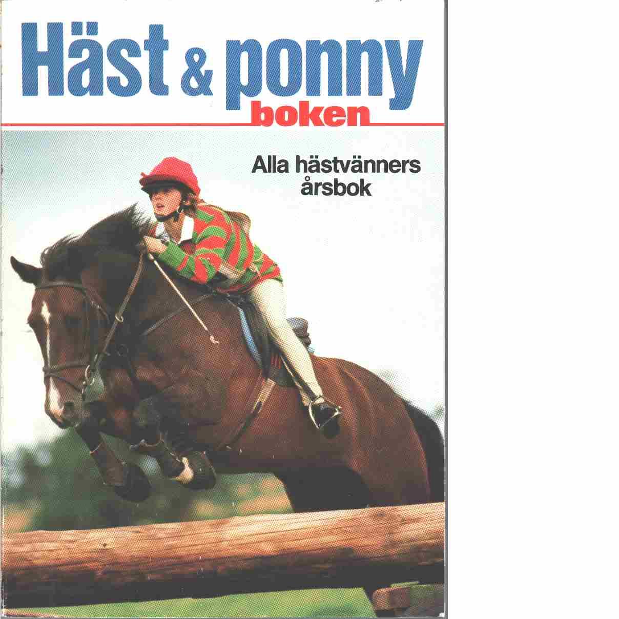 Häst- & ponnyboken.  - Red.