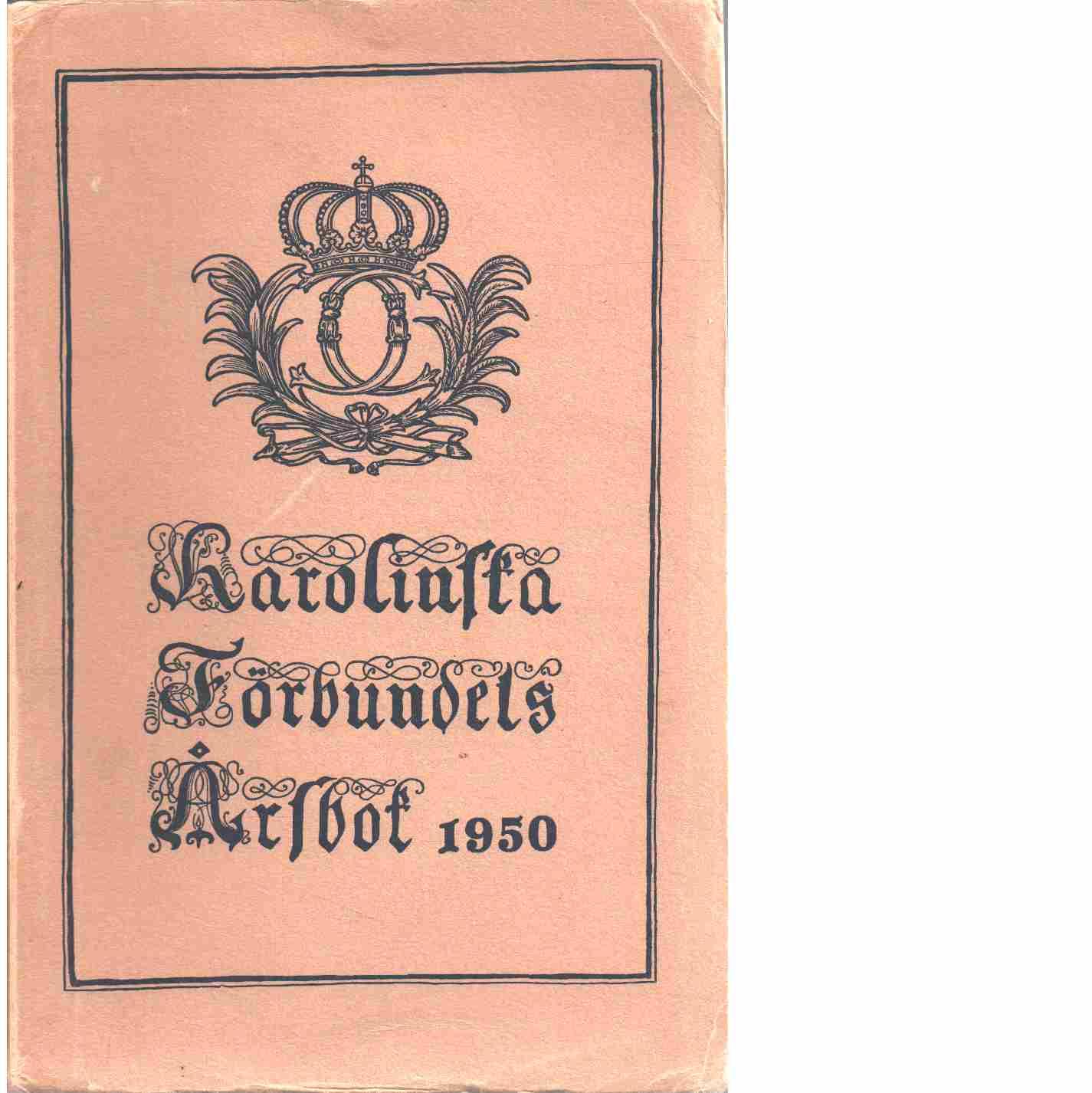 Karolinska förbundets årsbok  1950 - Karolinska förbundet